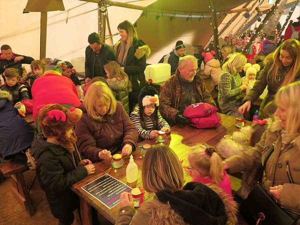 Children attending Believe Christmas