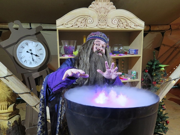 Wizard at Believe Christmas